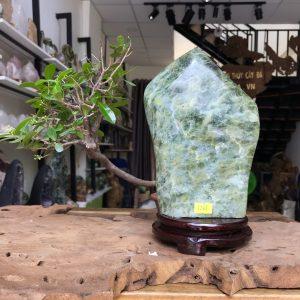 Đá cảnh xanh ngọc để bàn, kệ (MS : co87) KT 23x14 cm ,2.3kg