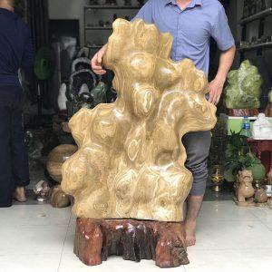 Cây đá cảnh tự nhiên canxit vàng KT : 1m20x0.8m nặng 120kg (MS : 149)