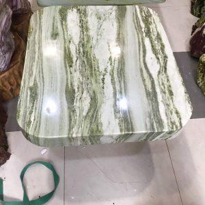Bộ bàn đá ngọc serpentine KT 79x89 cm , 6 đôn (BA01)
