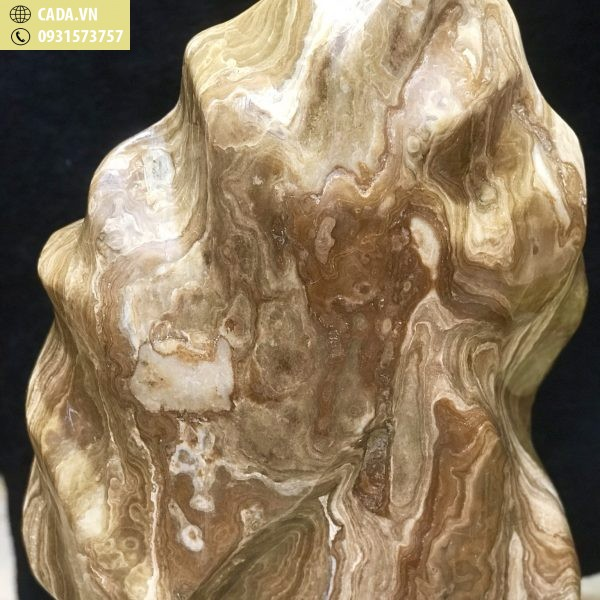 Đá cảnh tự nhiên nguyên khối Canxit vàng KT : C67 x N38 (Ms: 210)