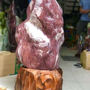 đá cảnh tự nhiên màu đỏ