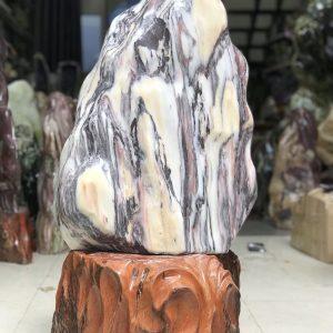 Cây đá cảnh vân trắng đen