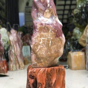 Cây đá cảnh nguyên khối đỏ vân