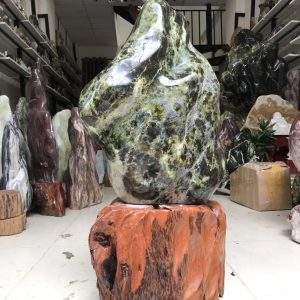 cây đá cảnh tự nhiên xanh đen