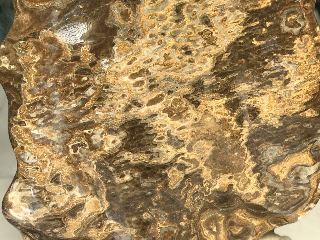 Cây đá canxit vàng nu đá cực vip KT : 95x51 cm, 75kg (MS : 236)