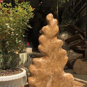Cây đá cảnh thiên nhiên màu vàng - đá canxit tự nhiên KT 66x38cm (MS:274)