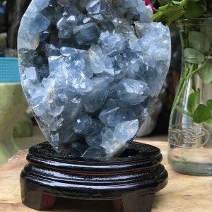 Miếng đá Celestine - Celestite Crystal Cluster KT 22X14cm , 3.248kg (CLT02)