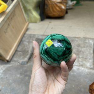 quả cầu đá malachite, đá khổng tước