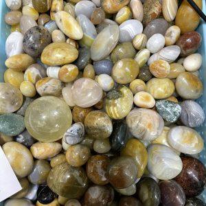 PALM AGATE - đá mã não hình viên , đá thanh tẩy, tarot