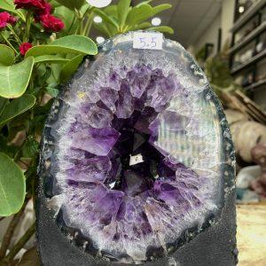 Hốc thạch anh tím, amethyst geode