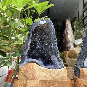Hốc thạch anh tím - Amethyst Geode - KT : 24 x 19cm, 4.8kg (T90)