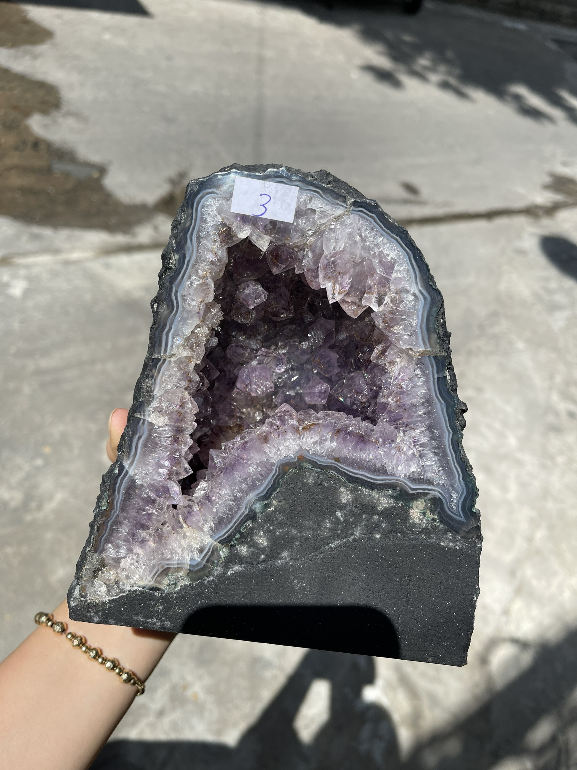 Hốc thạch anh tím - Amethyst Geode - KT : 17 x 15cm, 3kg (T89)