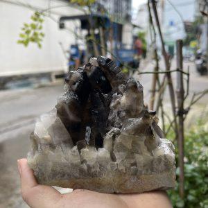 CỤM TINH THỂ THẠCH ANH KHÓI - Smoky quartz